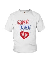 Love Life: footprint Youth T-Shirt tile