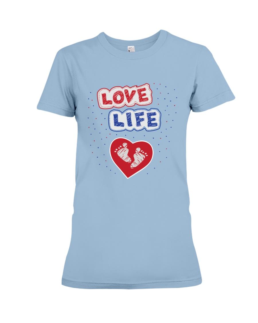 Love Life: footprint Premium Fit Ladies Tee