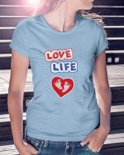 Love Life: footprint Premium Fit Ladies Tee lifestyle-women-crewneck-front-7