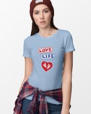 Love Life: footprint Premium Fit Ladies Tee lifestyle-women-crewneck-front-9