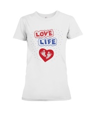 Love Life: footprint Premium Fit Ladies Tee thumbnail