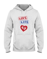 Love Life: footprint Hooded Sweatshirt tile