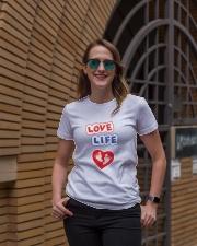 Love Life: footprint Ladies T-Shirt lifestyle-women-crewneck-front-2