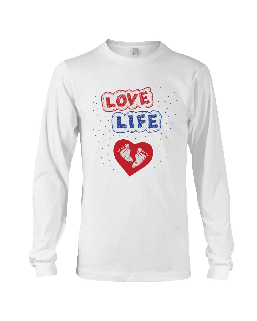 Love Life: footprint Long Sleeve Tee