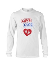 Love Life: footprint Long Sleeve Tee front