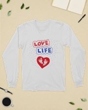 Love Life: footprint Long Sleeve Tee lifestyle-unisex-longsleeve-front-8