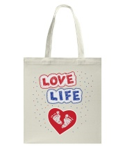 Love Life: footprint Tote Bag tile