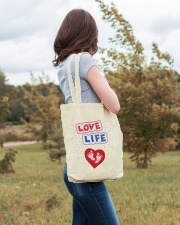 Love Life: footprint Tote Bag lifestyle-totebag-front-3
