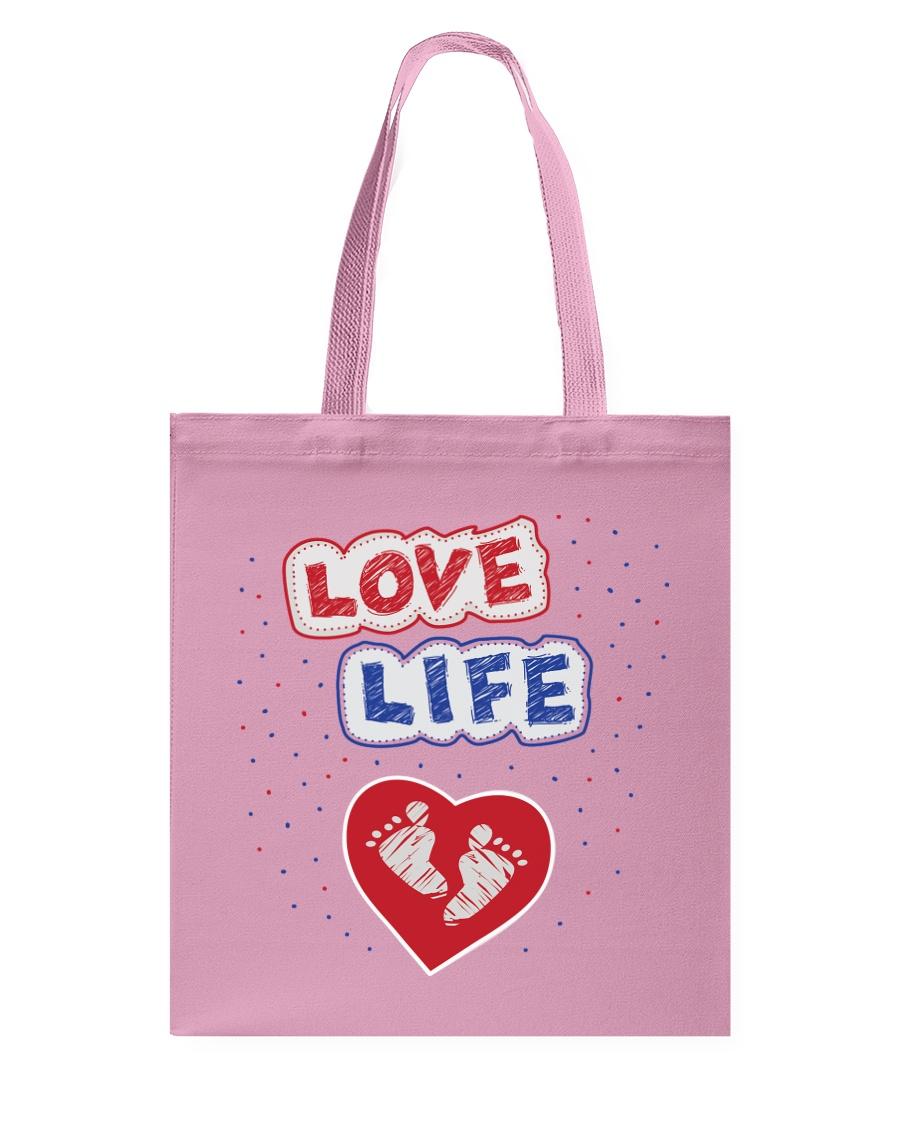 Love Life: footprint Tote Bag