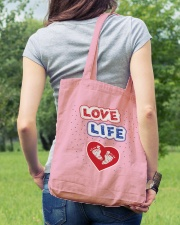 Love Life: footprint Tote Bag lifestyle-totebag-front-5