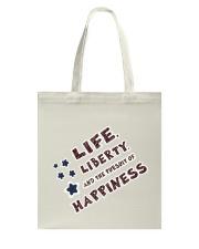 Women: Life Liberty Pursuit of Happiness Tote Bag thumbnail
