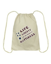 Women: Life Liberty Pursuit of Happiness Drawstring Bag thumbnail