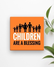 Children are a blessing Square Magnet aos-magnets-square-front-lifestyle-4