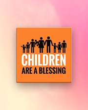 Children are a blessing Square Magnet aos-magnets-square-front-lifestyle-8