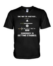 DND Stabbed V-Neck T-Shirt thumbnail