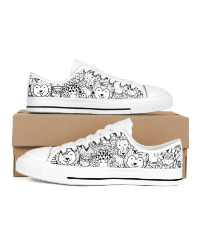 Trending Funny Dogs Black And White Se Shoe Newest