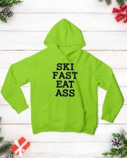 Ski Fast Eat Ass Sweatshirt Hoodie Skate Tshirt Hooded Sweatshirt lifestyle-holiday-hoodie-front-3