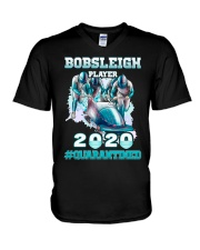 Bobsleigh Player 2020 Quarantined Shirt V-Neck T-Shirt thumbnail