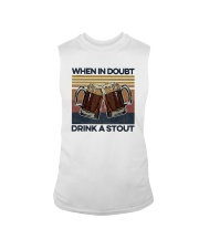 Vintage Beers When In Doubt Drink A Stout Shirt Sleeveless Tee thumbnail