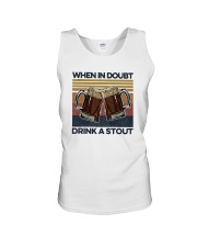 Vintage Beers When In Doubt Drink A Stout Shirt Unisex Tank thumbnail