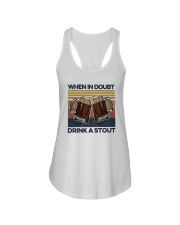 Vintage Beers When In Doubt Drink A Stout Shirt Ladies Flowy Tank thumbnail