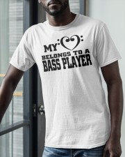 My Heart Belongs To A Bass Player Shirt Classic T-Shirt apparel-classic-tshirt-lifestyle-front-39