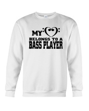 My Heart Belongs To A Bass Player Shirt Crewneck Sweatshirt thumbnail