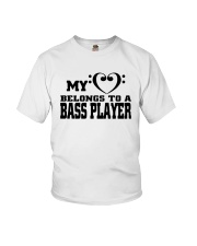 My Heart Belongs To A Bass Player Shirt Youth T-Shirt thumbnail