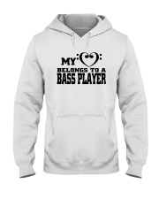 My Heart Belongs To A Bass Player Shirt Hooded Sweatshirt thumbnail
