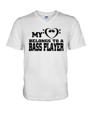 My Heart Belongs To A Bass Player Shirt V-Neck T-Shirt thumbnail