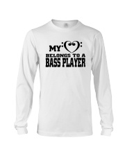 My Heart Belongs To A Bass Player Shirt Long Sleeve Tee thumbnail