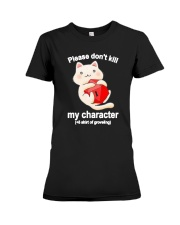 Cat Dungeon Please Dont Kill My Character Shirt Premium Fit Ladies Tee thumbnail