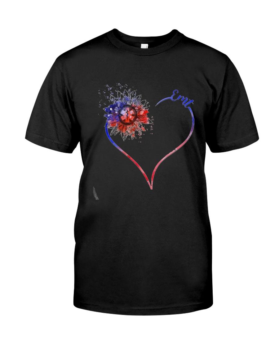 Heart Diamond Sunflower Emt Shirt Premium Fit Mens Tee