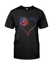 Heart Diamond Sunflower Emt Shirt Premium Fit Mens Tee front