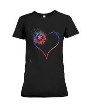 Heart Diamond Sunflower Emt Shirt Premium Fit Ladies Tee thumbnail