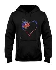 Heart Diamond Sunflower Emt Shirt Hooded Sweatshirt thumbnail
