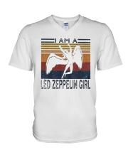 Vintage I Am A Led Zeppelin Girl Shirt V-Neck T-Shirt thumbnail