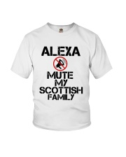 Alexa Mute My Scottish Family Shirt Youth T-Shirt thumbnail