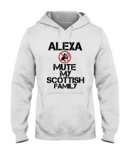 Alexa Mute My Scottish Family Shirt Hooded Sweatshirt thumbnail
