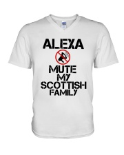 Alexa Mute My Scottish Family Shirt V-Neck T-Shirt thumbnail