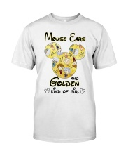 Mickey Mouse Ears And Golden Kind Of Girl Shirt Classic T-Shirt front