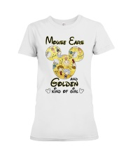 Mickey Mouse Ears And Golden Kind Of Girl Shirt Premium Fit Ladies Tee thumbnail
