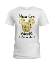 Mickey Mouse Ears And Golden Kind Of Girl Shirt Ladies T-Shirt thumbnail