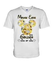 Mickey Mouse Ears And Golden Kind Of Girl Shirt V-Neck T-Shirt thumbnail
