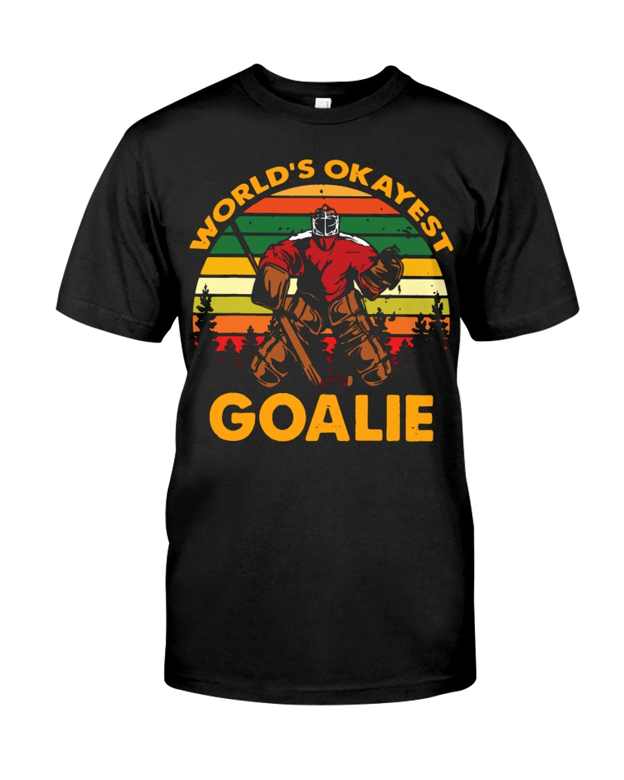 Vintage Hockey World's Okayest Goalie Shirt Classic T-Shirt