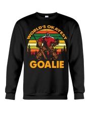 Vintage Hockey World's Okayest Goalie Shirt Crewneck Sweatshirt thumbnail