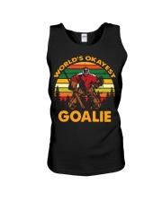 Vintage Hockey World's Okayest Goalie Shirt Unisex Tank thumbnail