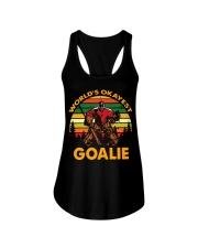 Vintage Hockey World's Okayest Goalie Shirt Ladies Flowy Tank thumbnail