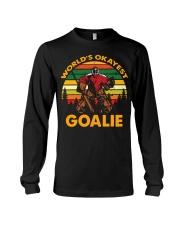 Vintage Hockey World's Okayest Goalie Shirt Long Sleeve Tee thumbnail