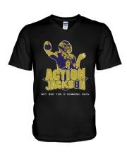Action Jackson Not Bad For A Running Back Shirt V-Neck T-Shirt thumbnail